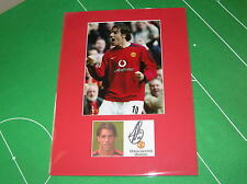 Manchester United Ruud Van Nistelrooy Signed 2005 Press Photograph Mount