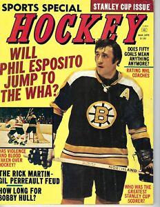 1975 MARCH Sports Special Hockey magazine, Phil Esposito, Boston Bruins GOOD