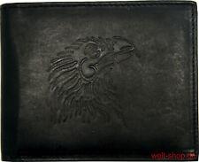 Geldbörse Geldbeutel Portemonnaie Leder Adler USA geprägt RFID geschützt