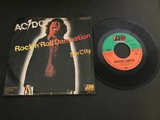 DISQUE VINYLE 45T : ACDC Rock'n'roll - Damnation - Sin City
