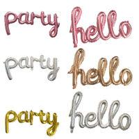 Gold Silber Buchstabe Hello Party Folien Ballon Junggesellenabschied Party Dekor