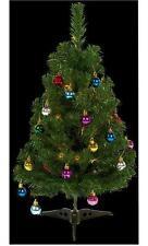 Pre-Illuminate vestita per albero di Natale Tavolo adatto - 20 LED bianco caldo 60cm di altezza