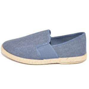 Espadrillas uomo scarpe da barca blu jeans avion tela fresco e fondo in spago in