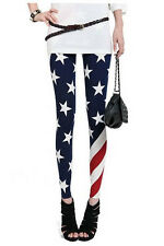 Leggings pantaloni pantacollant bandiera americana USA flag