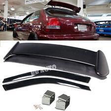 For 96-00 Civic 3DR TYPE-R Rear Roof Spoiler Wing + Window Visor + ALEX Bracket