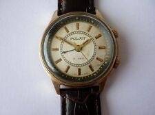 Beautiful POLJOT Goldplated Buzzing Alarm 18 J Russian Watch 1960's