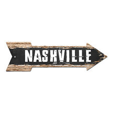 AP-0271 NASHVILLE Arrow Street Tin Chic Sign Name Sign Home man cave Decor