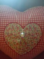 """Harmony ball Angel Bola Chime Ball 2cm Pendant Necklace 925 Silver Chain 16"""""""