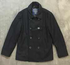 NEW AMERICAN EAGLE AEO NAVY MENS MILITARY PEACOAT COAT JACKET SZ S SMALL