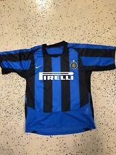 Vintage Serie A Inter Milan Nike 2003 Home Pirelli Soccer Futbol Jersey Size M