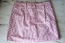Tailor new york Women's  Mini Skirt Size 2 Pink White Striped