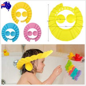 Adjustable Baby Shower Head Cap Ear Cover Kid Children Bath Shield Wash Hair Hat