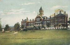 GRAND RAPIDS MI – Michigan Soldiers Home Main Building Rotograph Postcard - 1908
