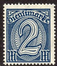 Germany Scott #O12 F/VF MNH 1920 2m Official