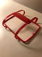 Tupperware PAPRIKA Orange Red Pack-N-Carry Lunch Box HANDLE  1322-3 NEW •