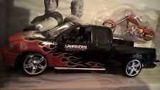 1/18 Ford F-150 Pickup Truck SLammed & Fire Bike American Chopper JoyRide ERTL