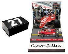 Brumm S12/52 Ferrari 126C2 Turbo Belgium GP 1982 Gilles Villeneuve 1/43 Scale
