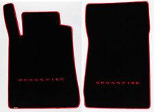 NEW Black Front Floor Mats 2004-08 Chrysler Crossfire red Logo & Premium Binding