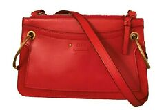 New w/tag $1250.Chloe Roy Crossbody Bag. Red Leather/Suede. w/Authenticity Card