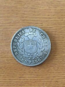 Coin 1 peso 1881, Chile