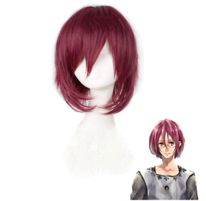 The Seven Deadly Sins Gowther Short Rose Red Cosplay Wig Heat Resistant Hair