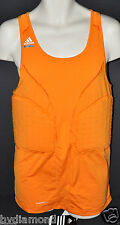Adidas Pad Tank top Techfit Orange 2XT 2XL Tall basketball New padded shirt $70~