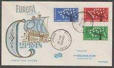 v578 Zypern /CEPT 1963  MiNr 215/17 auf FDC
