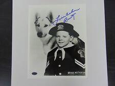 """Rin Tin Tin"" Lee Aaker Hand Signed B&W 8X10 Photo PAAS COA"