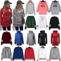 Womens Hoodie Sweatshirt Hooded Sweater Ladies Jumper Pullover Sports Coat Tops