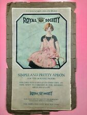 VINTAGE 1926 -  ROYAL SOCIETY - APRON READY MADE - EMBROIDERY PATTERN