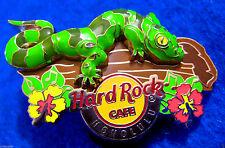 Honolulu Hawaii 3D Gecko Lizard Hibiscus Tree Logo Hard Rock Cafe Pin Free Ship