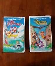 """Disney's """"The Rescuers"""" 1 and 2 """"The Rescuers Down Under"""" (VHS)"""