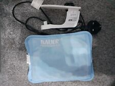 BAUER rechargeable hot water bottle  • blue • uk plug • hand pockets • USED