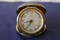 Vintage collectable Solo 4 jewels travel alarm clock turquiose case working