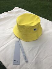 Authentic Rick Owens x Champion Nylon Bucket Hat Small/Medium Yellow NEW W/ TAGS
