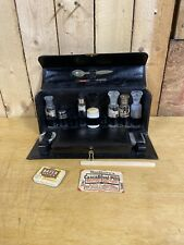 Antique Medical Doctors Apothecary Kit Leather Travel Case Pharmacy Drugs Vials