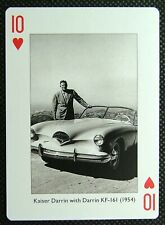 1 x playing card single Car Kaiser Darrin with Darrin KF-161 (1954) 10 of Hearts