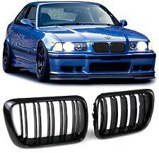 2 GRILLE DE CALANDRE NOIR DOUBLE LAME BMW SERIE 3 E36 PHASE 2 DE 09/1996 A 99