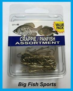 EAGLE CLAW Crappie/Panfish Hook Assortment- 46 Hooks- Sizes Vary #SPCRP