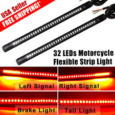 2X Integrated LED Tail Brake Stop Turn Signal Strip Light for Harley motorcycle