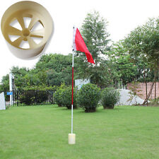 Plastic Backyard Practice Golf Hole Pole Cup Flag Stick Support Hot