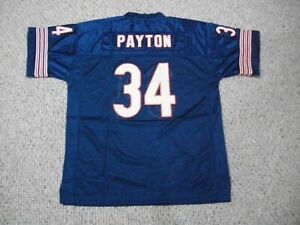 WALTER PAYTON Unsigned Custom Chicago Blue Sewn New Football Jersey Sizes S-3XL