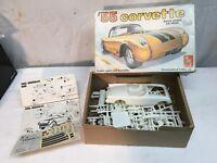 Vintage amt Corvette 1955 Model Build Stock Drag Race Car Original Box Complete