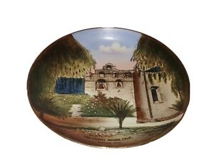 Vintage California Pottery Mission San Gabriel Hand Painted Collectors Plate EXC