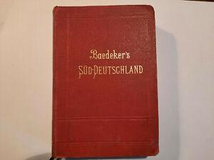 Baedeker Süd Deutschland 1903 Oberrhein  Baden Bayern Württemberg Österreich