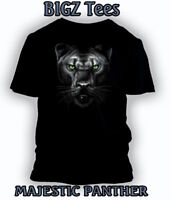 Big and Tall Graphic T Shirt MAJESTIC Black PANTHER Tee Men Black Pro Club T