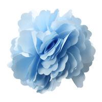 Women Girls Satin Peony Flower Hair Clip Brooch - Light Blue PK Valentines I6Z1
