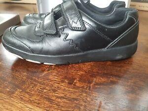 Boys Clarks School Shoes size uk 2.5 F dinosaur design