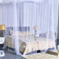 4 Corner Post Bed Canopy Mosquito Net Netting Bedding White Full Queen King Size