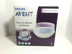 Philips AVENT Microwave Steam Sterilizer for Baby Bottles.  SCF281/05 new